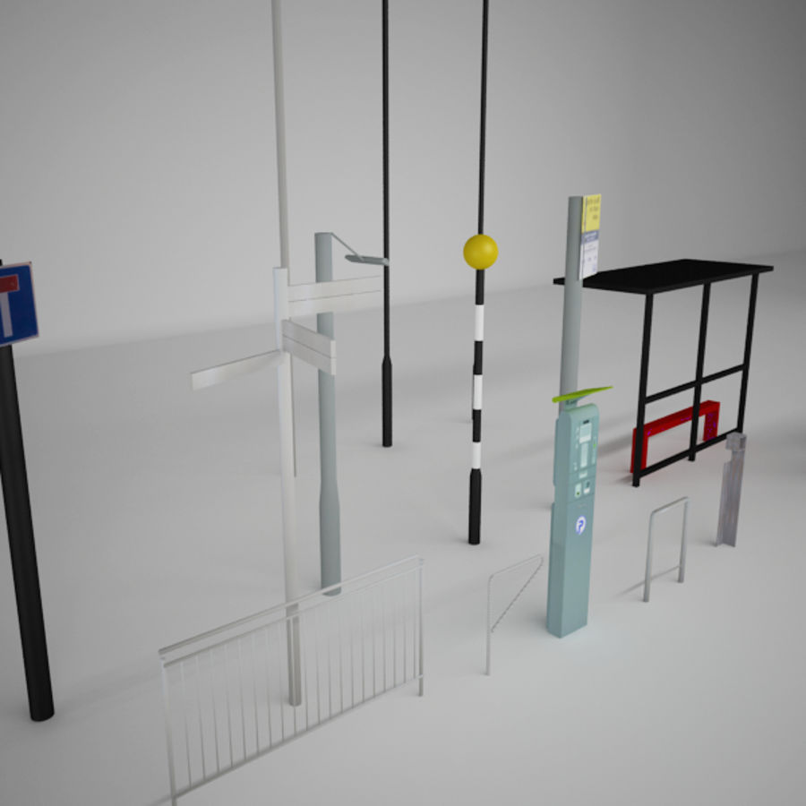 Street Furniture Collection.ZIP royalty-free 3d model - Preview no. 4
