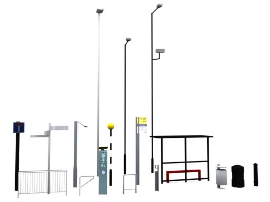 Street Furniture Collection.ZIP royalty-free 3d model - Preview no. 5
