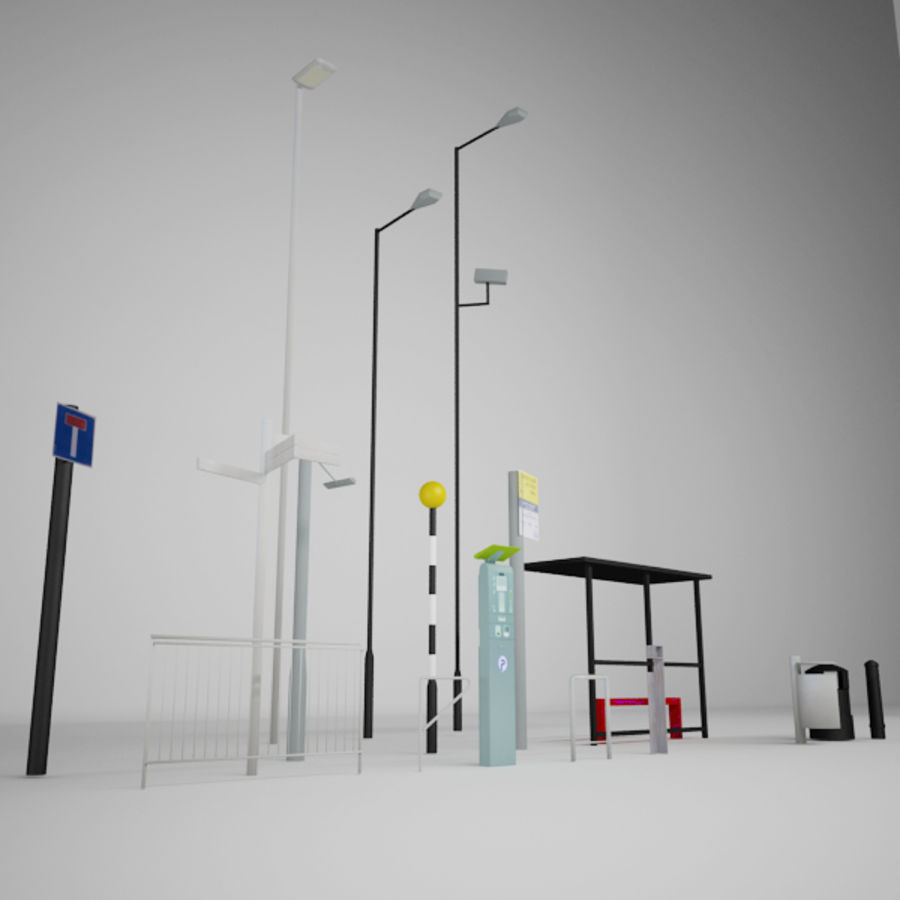 Street Furniture Collection.ZIP royalty-free 3d model - Preview no. 3
