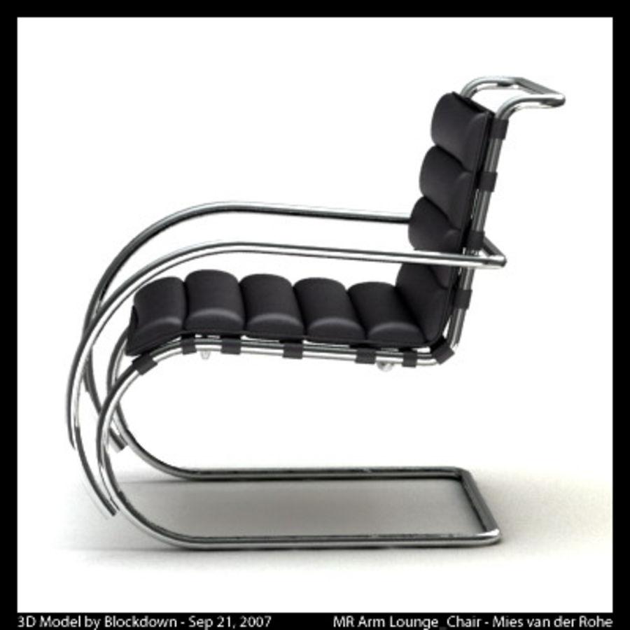 MR 암 라운지 의자 royalty-free 3d model - Preview no. 6