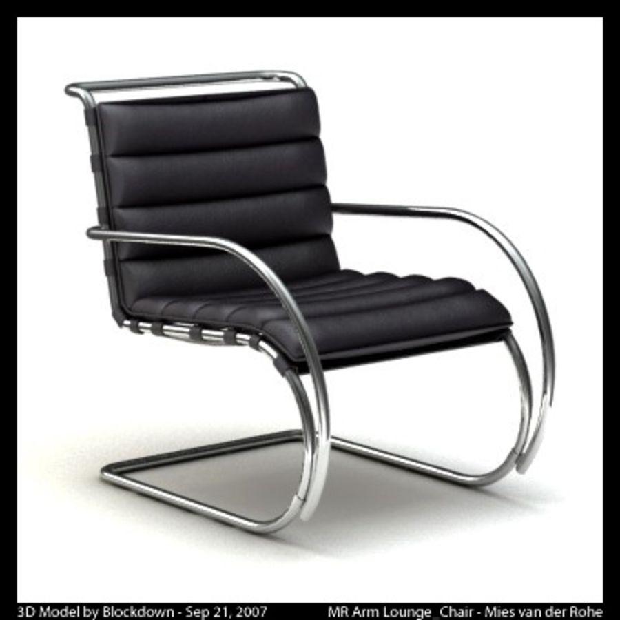 MR 암 라운지 의자 royalty-free 3d model - Preview no. 7