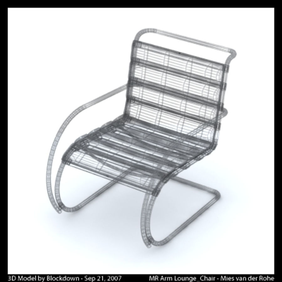 MR 암 라운지 의자 royalty-free 3d model - Preview no. 3