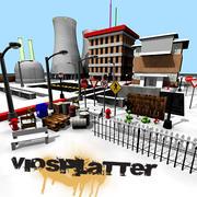 VioSplatter Street Assortment V1 Textured 3d model