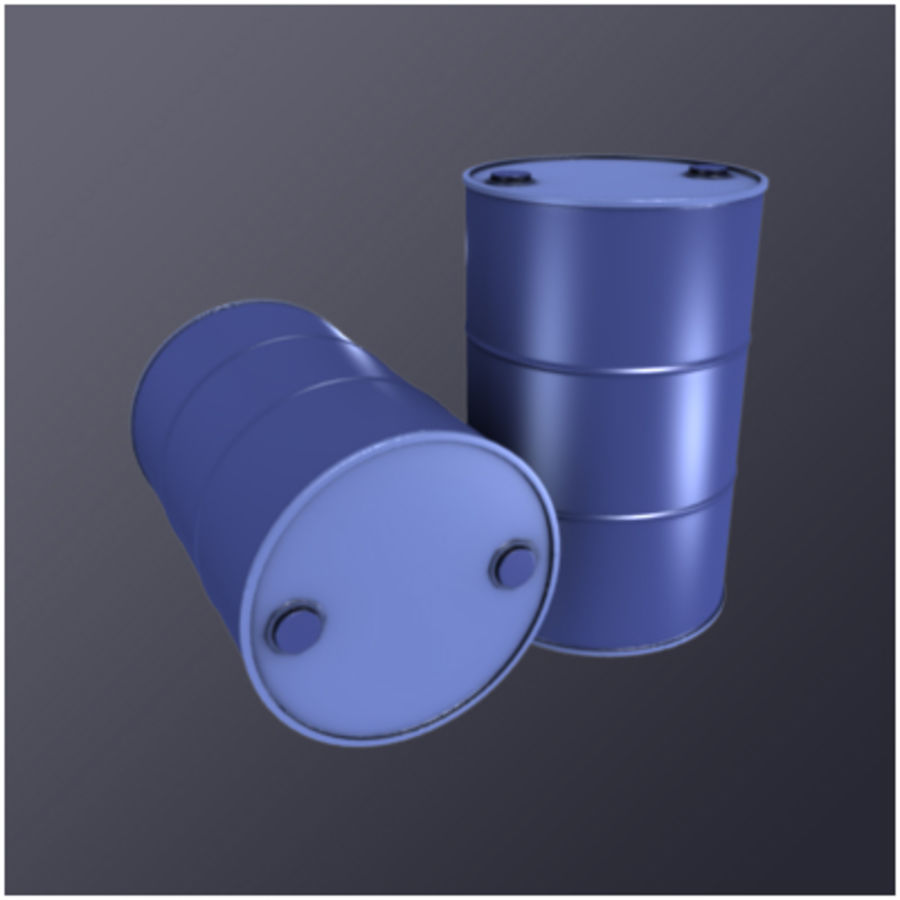 55 Gallon Drum (HD) royalty-free 3d model - Preview no. 1