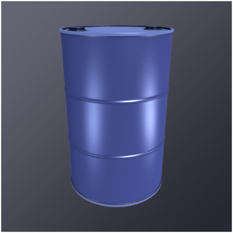 55 Gallon Drum (HD) royalty-free 3d model - Preview no. 2