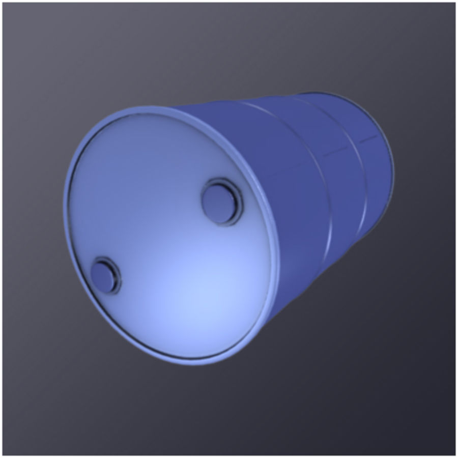 55 Gallon Drum (HD) royalty-free 3d model - Preview no. 4