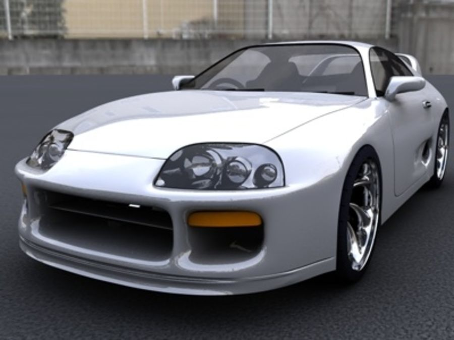 トヨタスープラ royalty-free 3d model - Preview no. 3