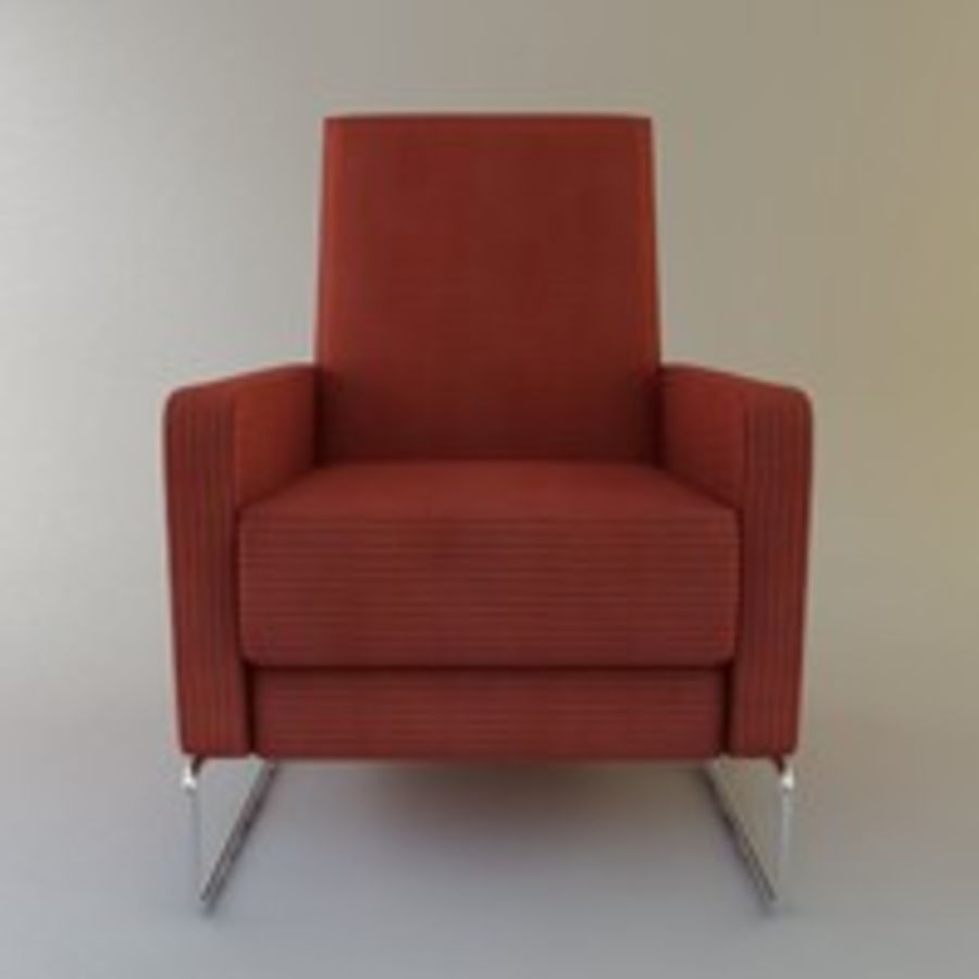 Recliner Flight Chair royalty-free 3d model - Preview no. 9