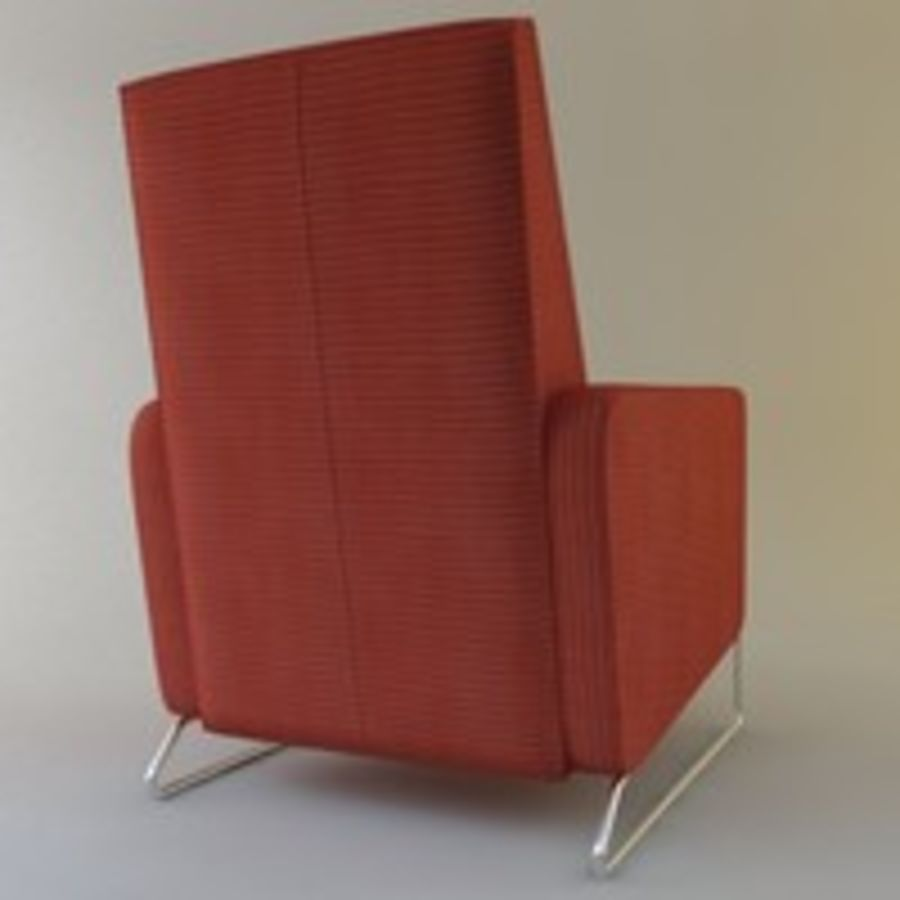 Recliner Flight Chair royalty-free 3d model - Preview no. 5