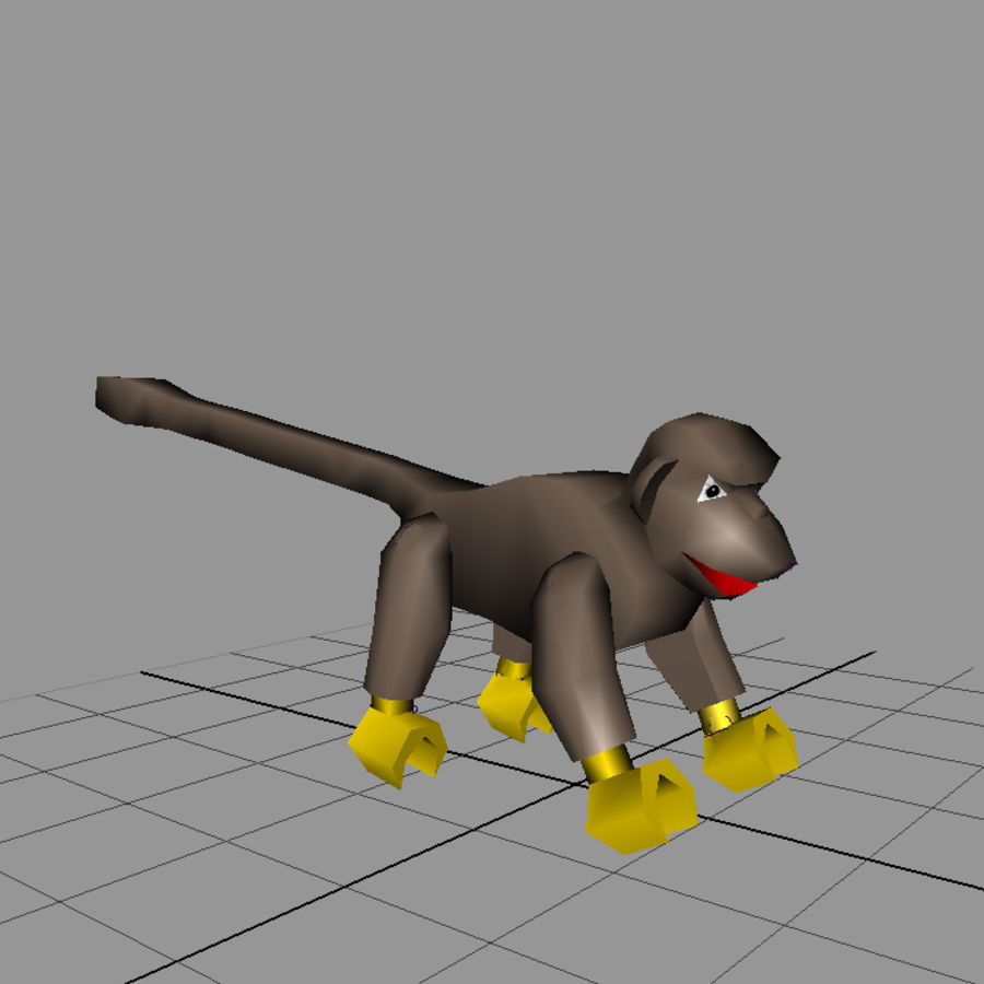 Lego Monkey royalty-free 3d model - Preview no. 1