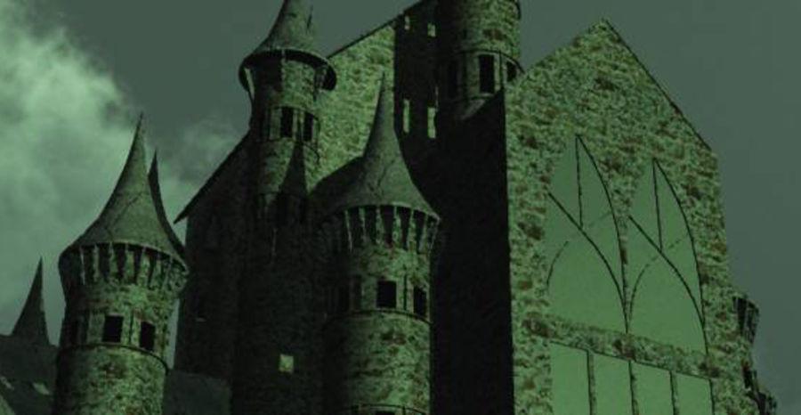 幻想哥特式城堡 royalty-free 3d model - Preview no. 1