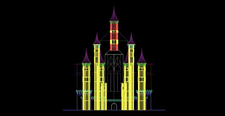 幻想哥特式城堡 royalty-free 3d model - Preview no. 8