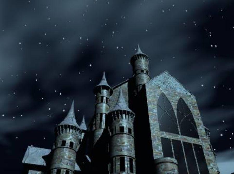 幻想哥特式城堡 royalty-free 3d model - Preview no. 4