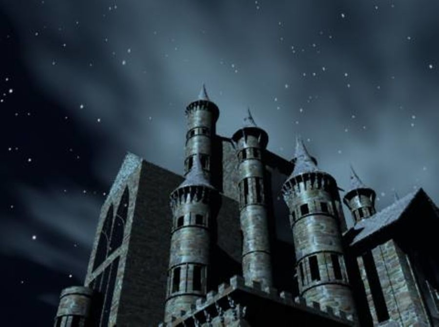 Fantasy Gothic Castle Royalty Free 3d Model