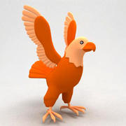 Eagle cartoon 3d model