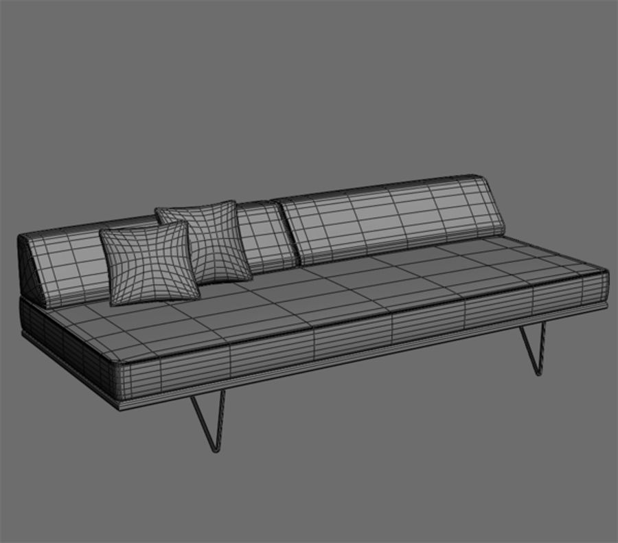 Case Study Day Bed royalty-free 3d model - Preview no. 2