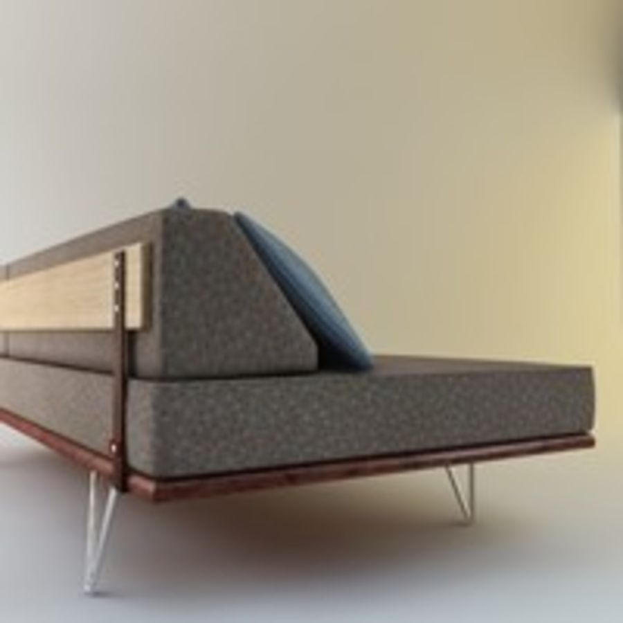 Case Study Day Bed royalty-free 3d model - Preview no. 1