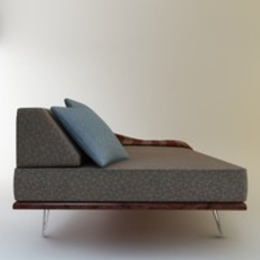 Case Study Day Bed royalty-free 3d model - Preview no. 8