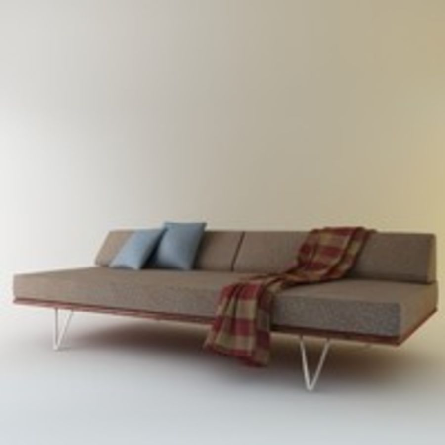 Case Study Day Bed royalty-free 3d model - Preview no. 5