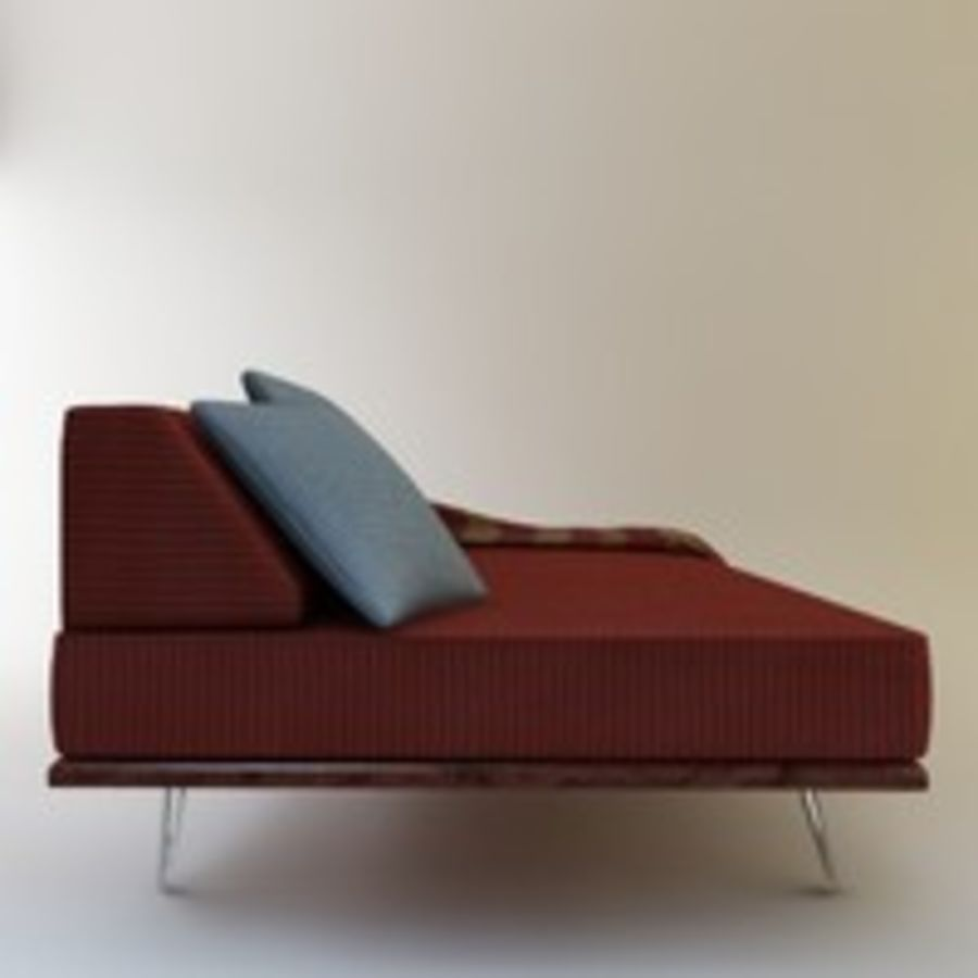 Case Study Day Bed royalty-free 3d model - Preview no. 7
