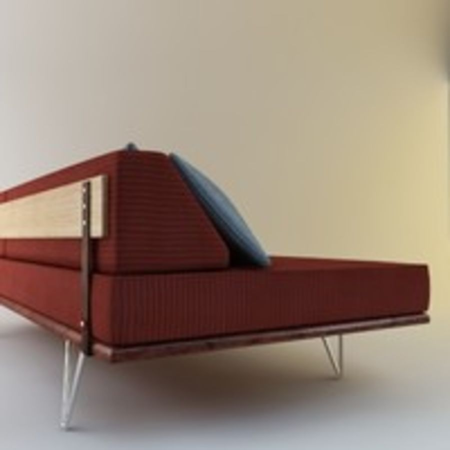 Case Study Day Bed royalty-free 3d model - Preview no. 3