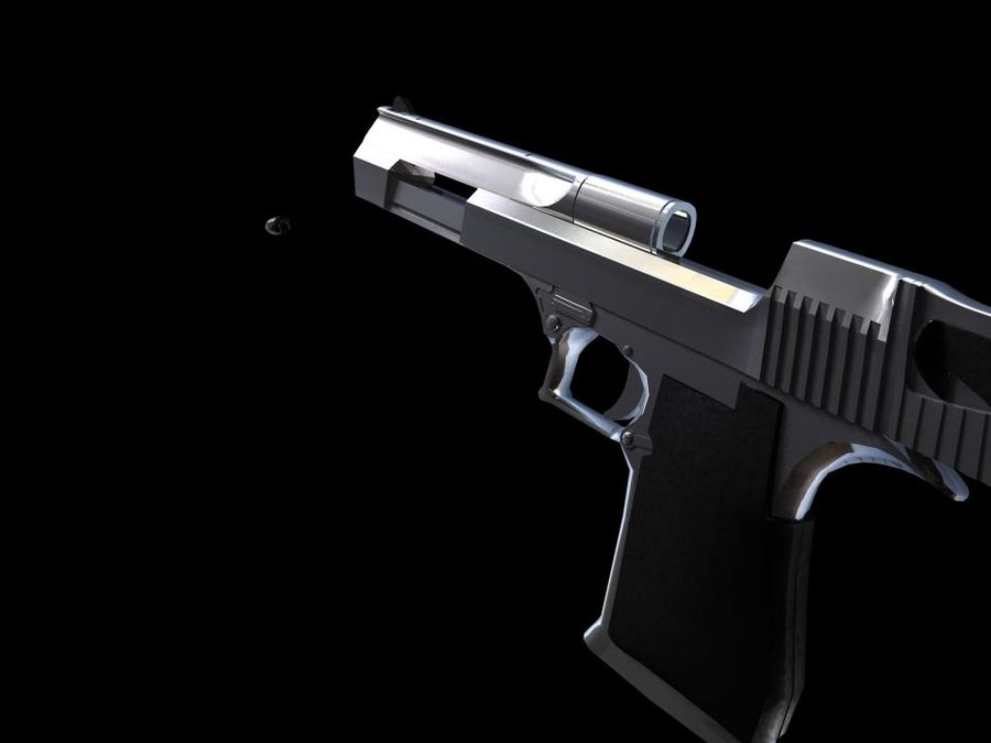 50 Cal Desert Eagle royalty-free 3d model - Preview no. 1