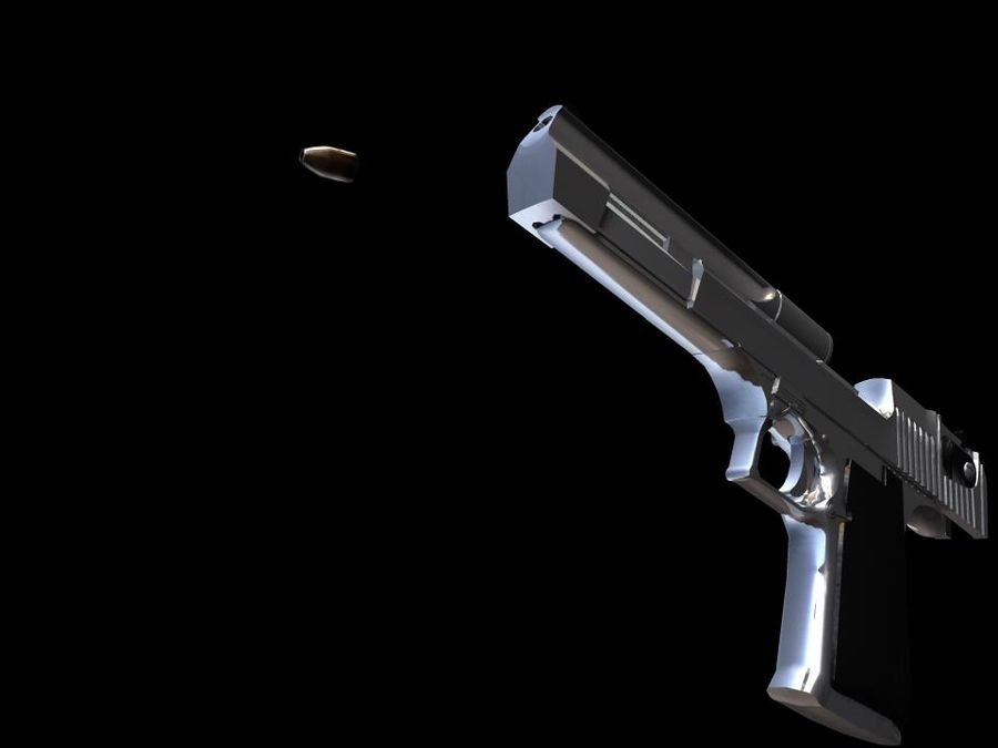 50 Cal Desert Eagle royalty-free 3d model - Preview no. 2