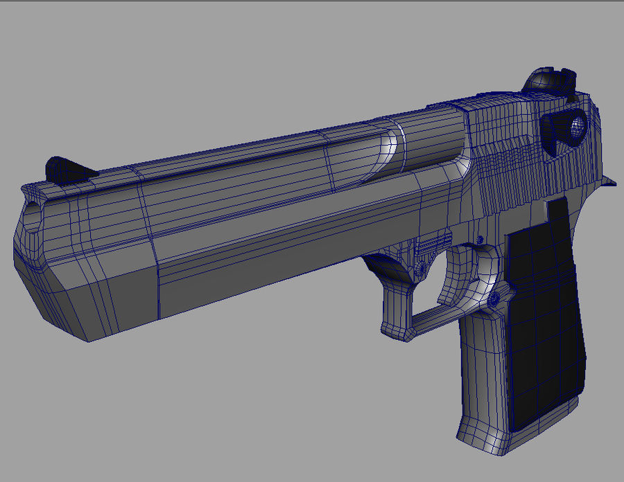 50 Cal Desert Eagle royalty-free 3d model - Preview no. 3