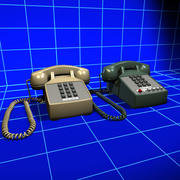 Touchtone Phone Vintage Collection 01 3d model