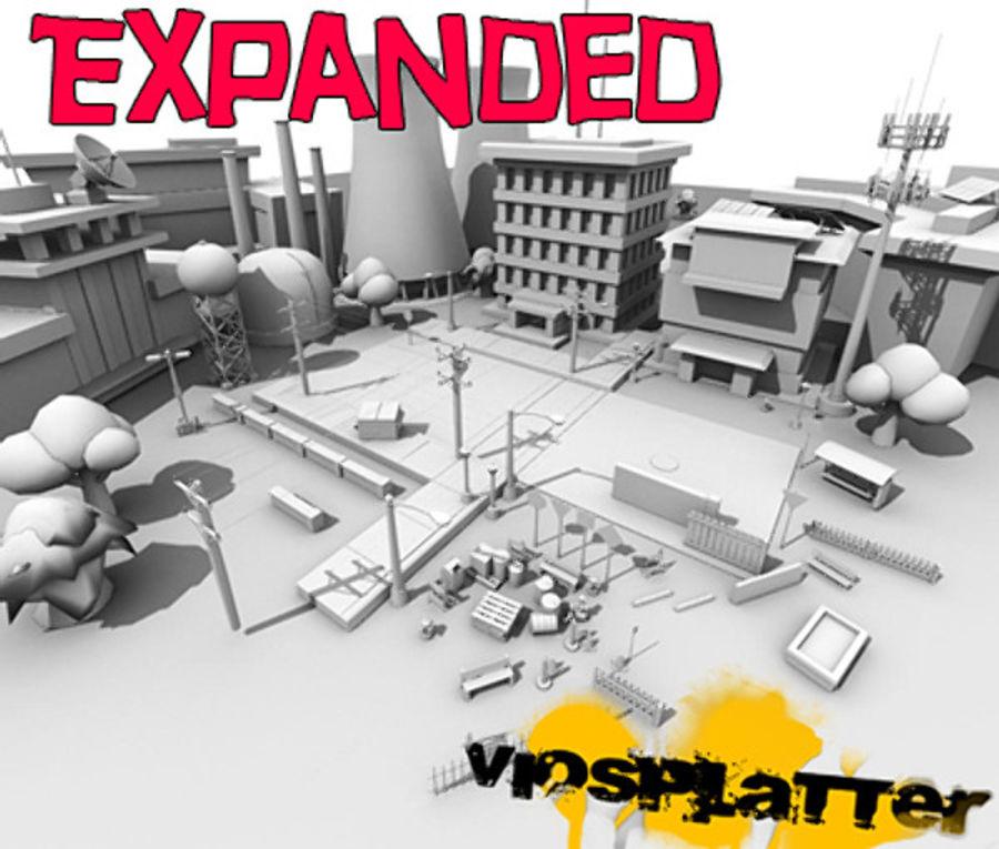 VioSplatter Street Assortment V1.4 royalty-free 3d model - Preview no. 5