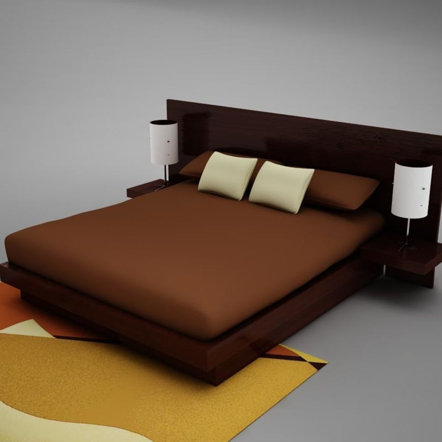 bed04.zip royalty-free 3d model - Preview no. 7