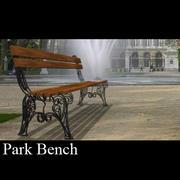 Bank in het park 3d model
