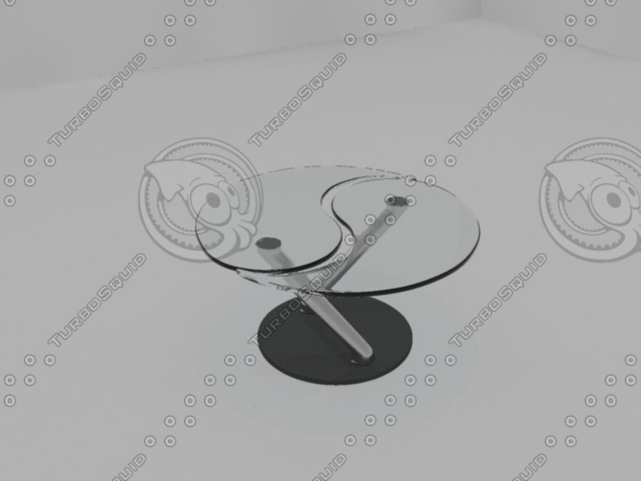 Yen Table.3DS royalty-free 3d model - Preview no. 3