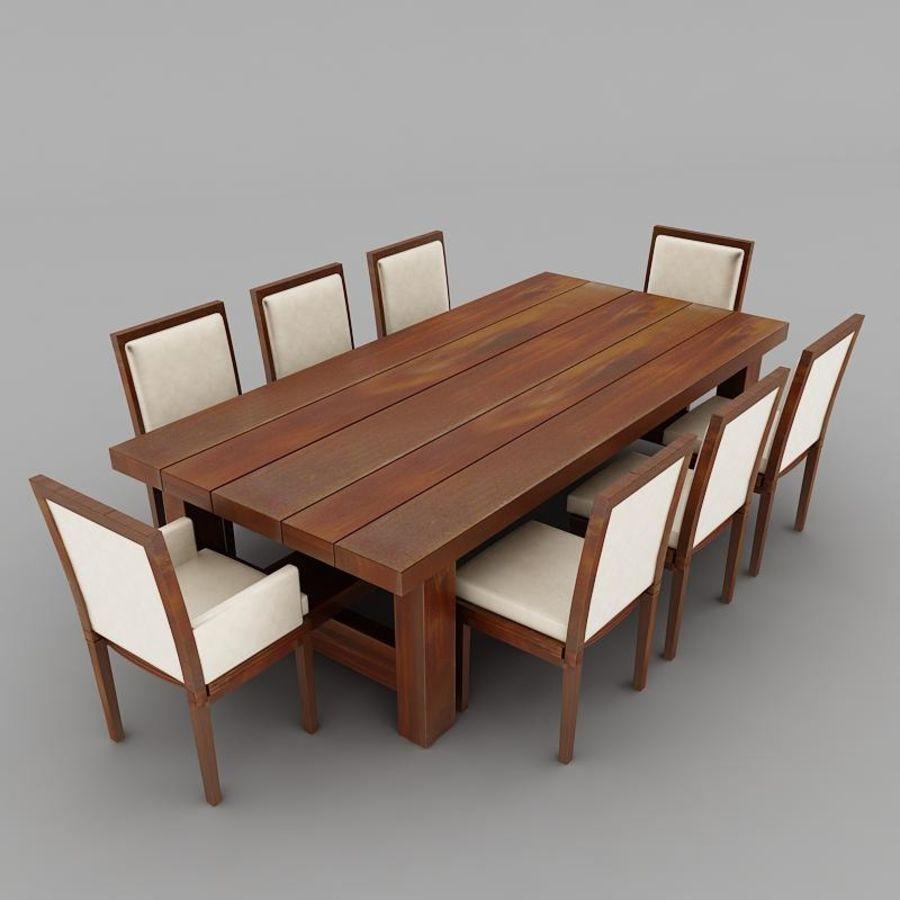 식사 테이블 royalty-free 3d model - Preview no. 2