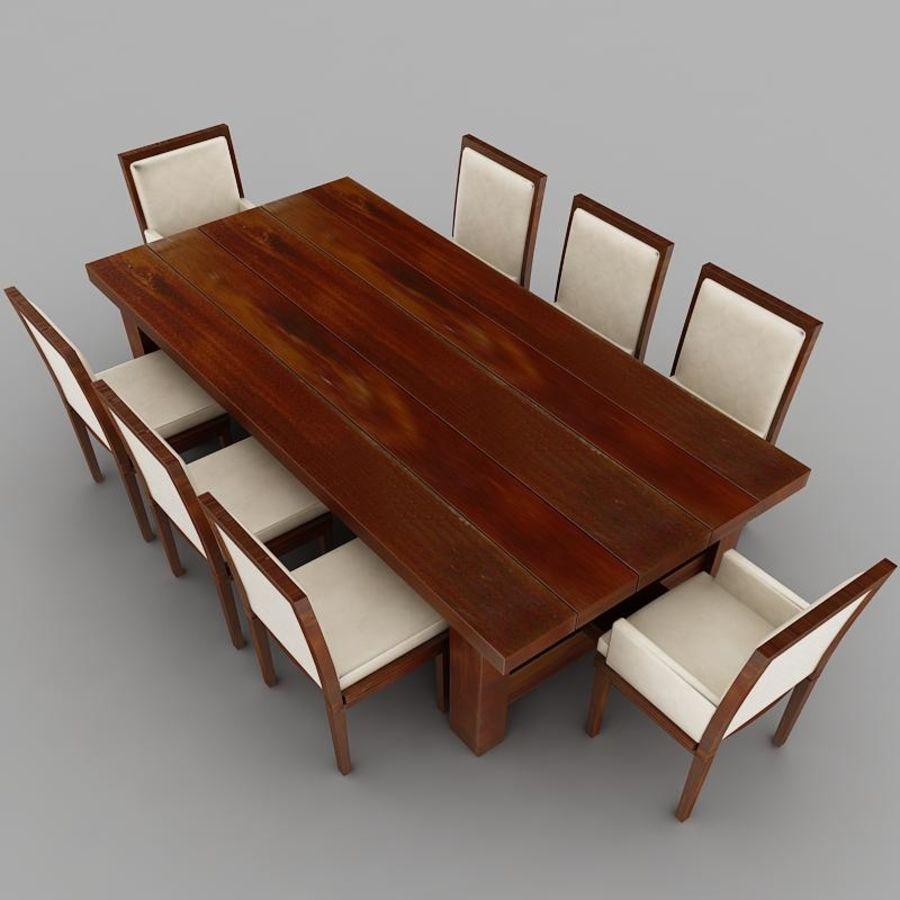 식사 테이블 royalty-free 3d model - Preview no. 5