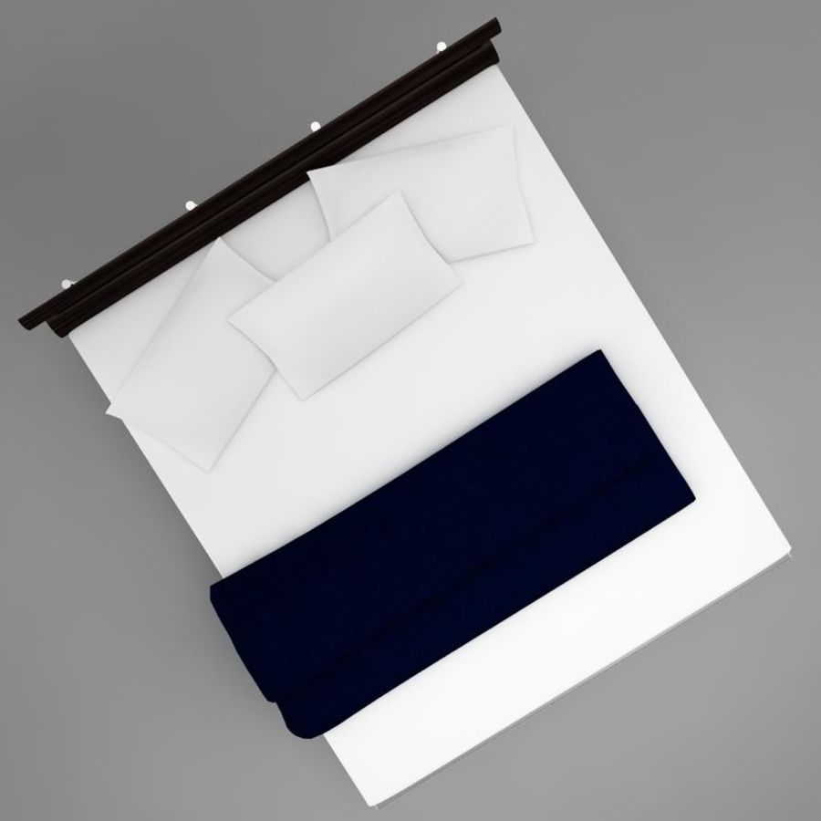 bed 03.zip royalty-free 3d model - Preview no. 7