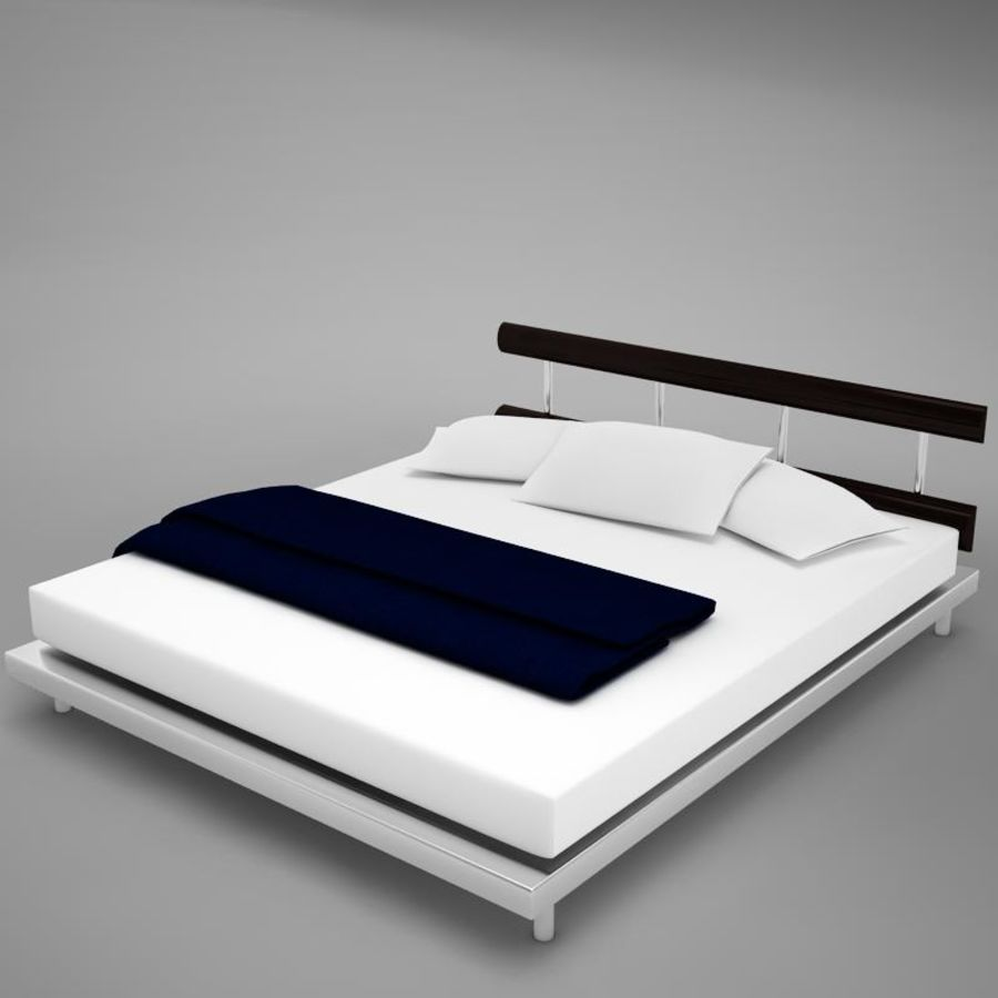 bed 03.zip royalty-free 3d model - Preview no. 2