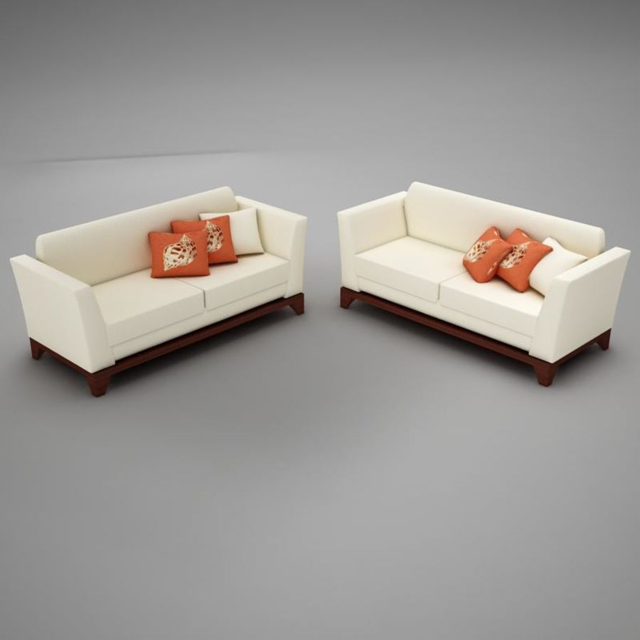 couches files.zip royalty-free 3d model - Preview no. 1