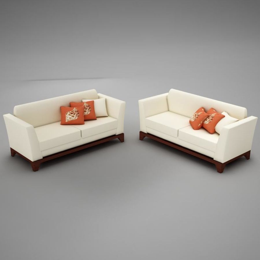 couches files.zip royalty-free 3d model - Preview no. 3