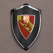 Knight Shield with lion coat of arms -  blazon 3d model