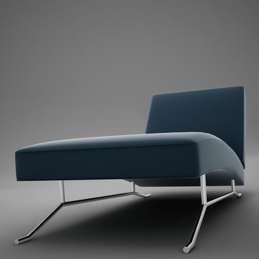 lounge chair02 royalty-free 3d model - Preview no. 7