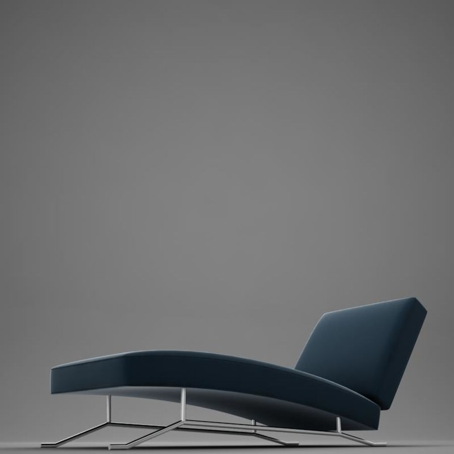 lounge chair02 royalty-free 3d model - Preview no. 9