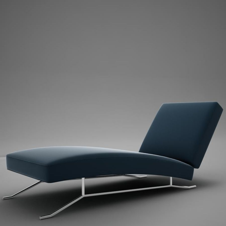 lounge chair02 royalty-free 3d model - Preview no. 2