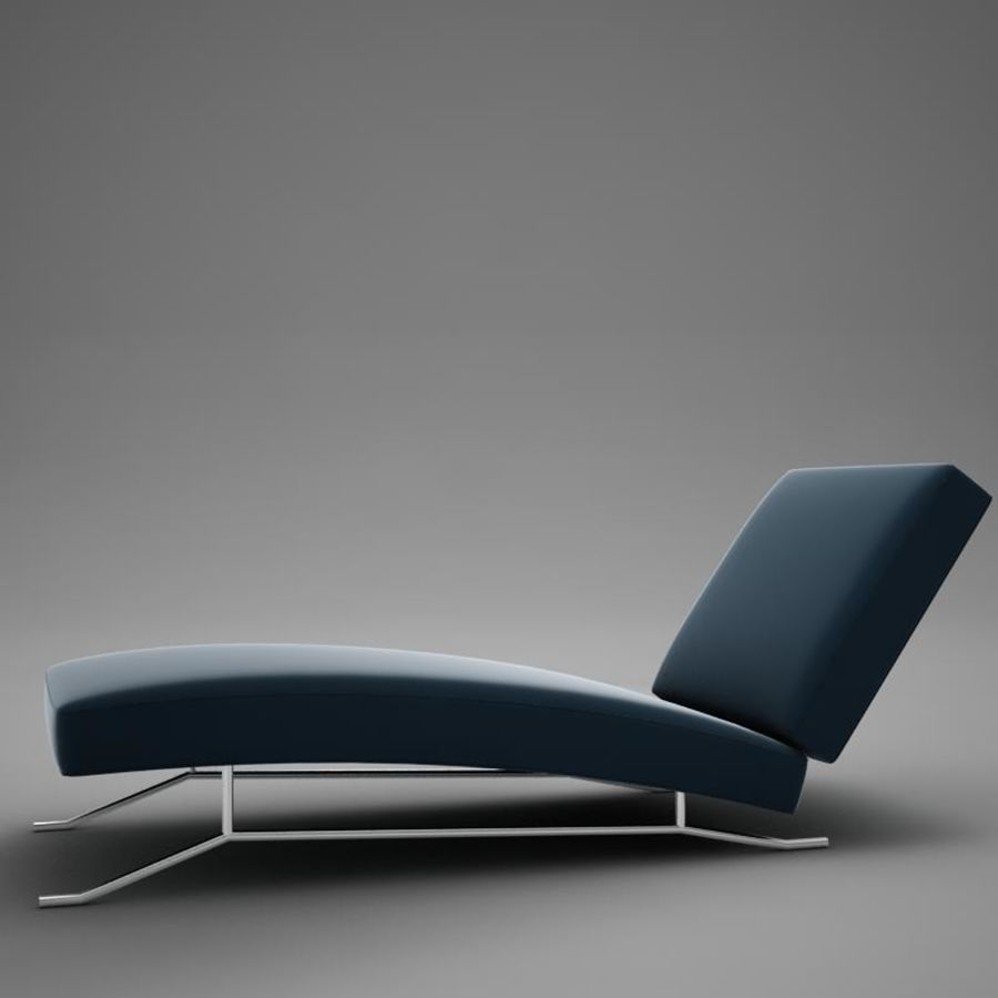 lounge chair02 royalty-free 3d model - Preview no. 3