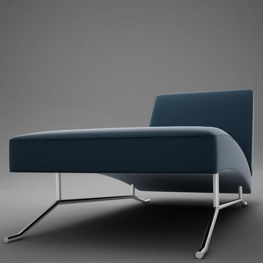 lounge chair02 royalty-free 3d model - Preview no. 4