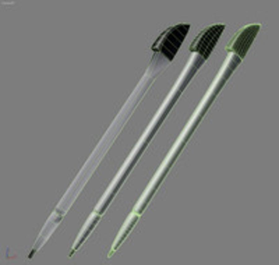 caneta stylus para smartphone pda royalty-free 3d model - Preview no. 3