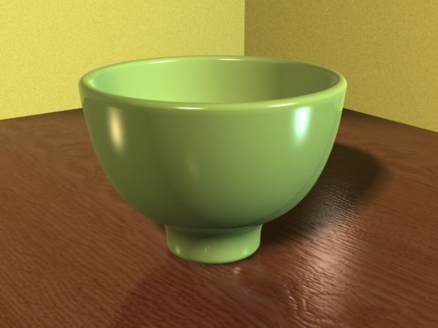Green_Bowl royalty-free 3d model - Preview no. 6
