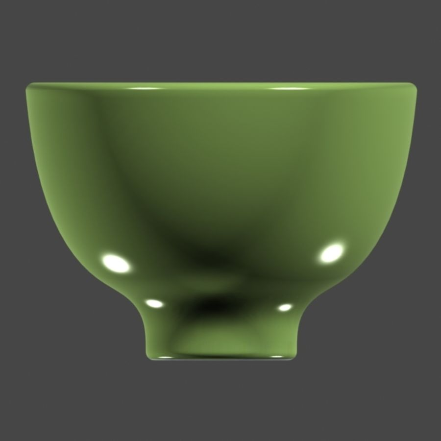 Green_Bowl royalty-free 3d model - Preview no. 3