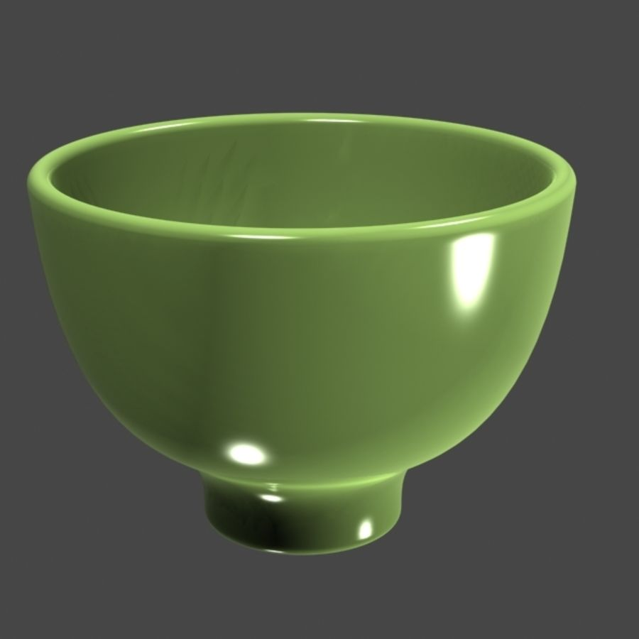 Green_Bowl royalty-free 3d model - Preview no. 5