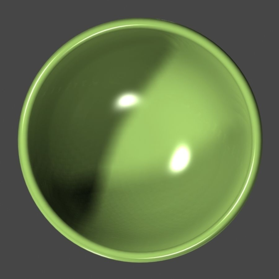 Green_Bowl royalty-free 3d model - Preview no. 4